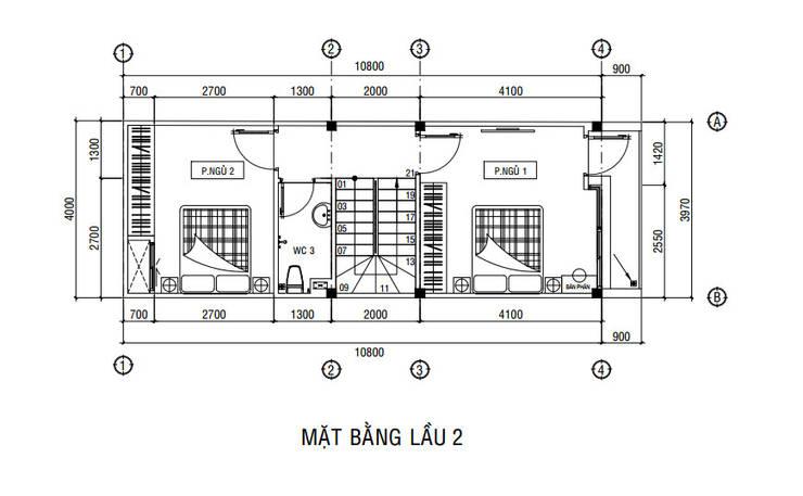 Bungalow theo Công ty Thiết Kế Xây Dựng Song Phát, Châu Á
