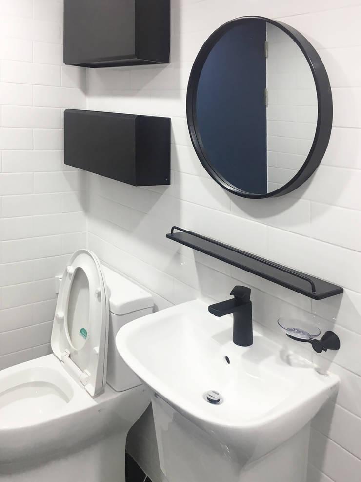 용인 수지구 복층 아파트 48PY: 그리다집의  욕실