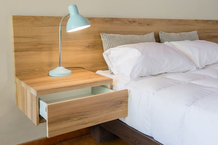 Contemporary Headboard with Pedestals:  Bedroom by Going Contemporary Urban Furniture Online