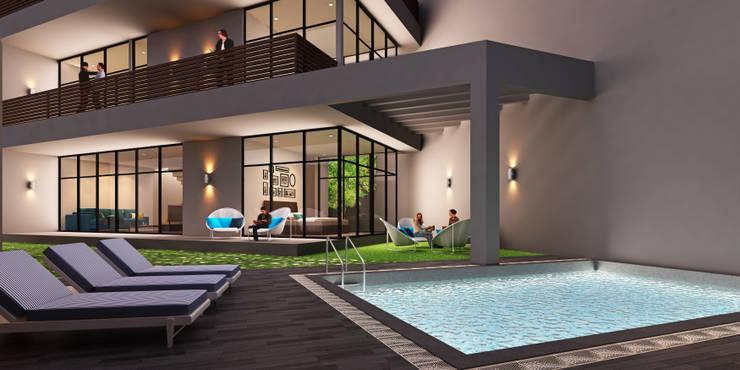 A duplex Villa:  Bungalows by  Ashleys,Minimalist