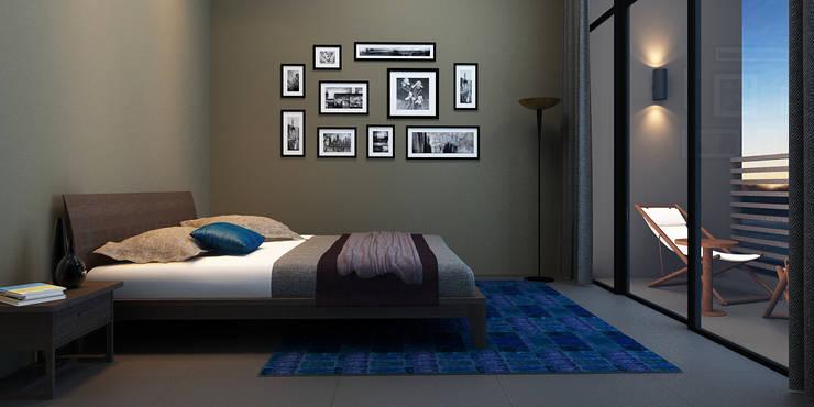 A duplex Villa:  Bedroom by  Ashleys,Minimalist