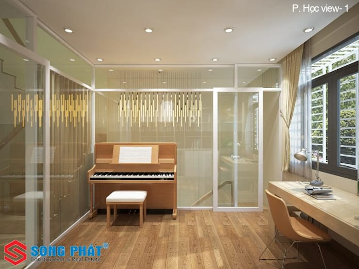 Media room by Công ty Thiết Kế Xây Dựng Song Phát