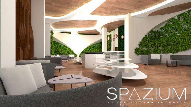 PROPUESTA SHOWROOM NATURA: Tiendas y espacios comerciales de estilo  por SPAZIUM ARQUITECTURA INTERIOR
