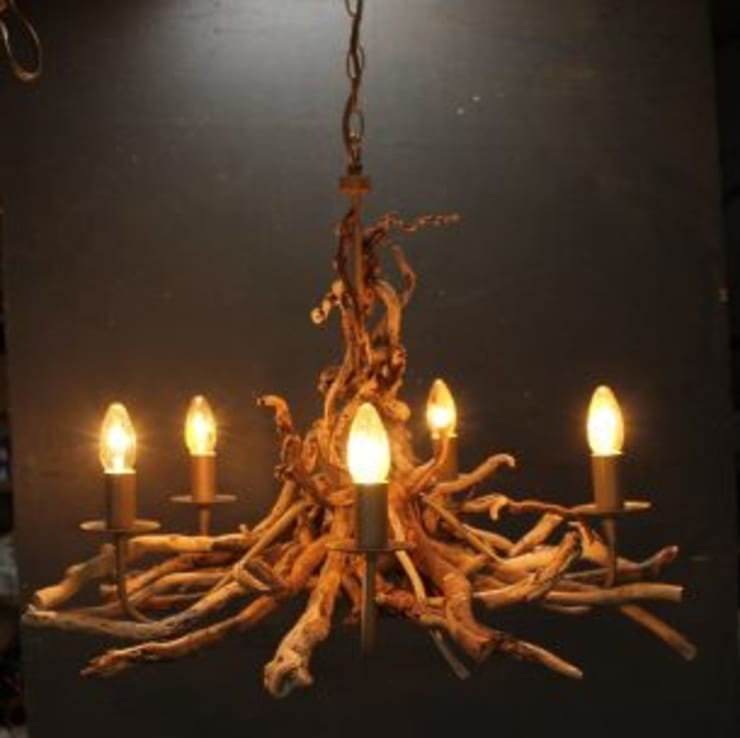 Driftwood  Chandeliers:   by Julia's Driftwood