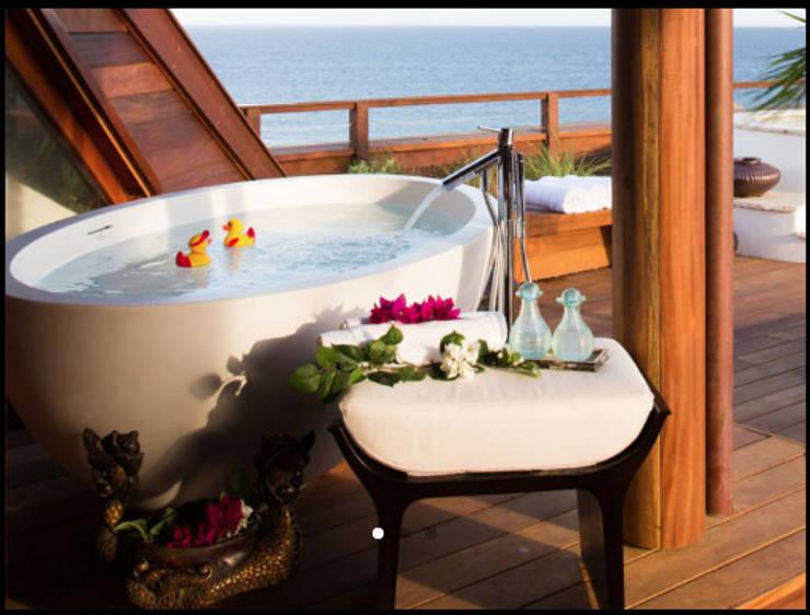 Bañeras de Fabricación Artesanal:  de estilo tropical de comprar en bali, Tropical Cerámica