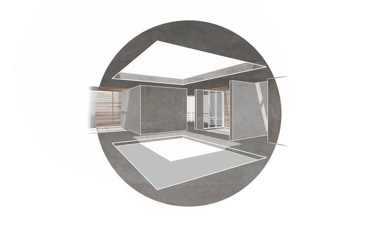 Patio interno:  de estilo  por decocas