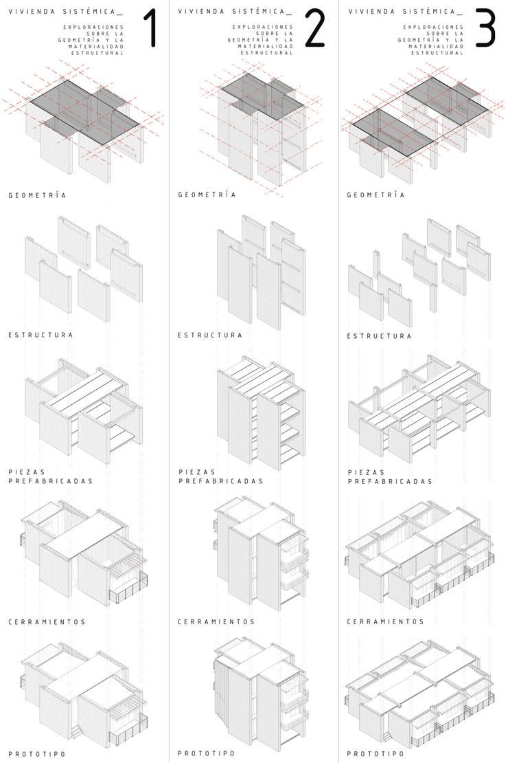 Modulación en vivienda de ladrillo:  de estilo  por decocas