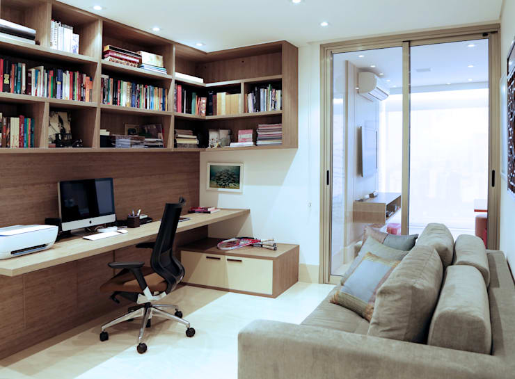 HOME OFFICE: Escritórios  por Adriana Scartaris: Design e Interiores em São Paulo