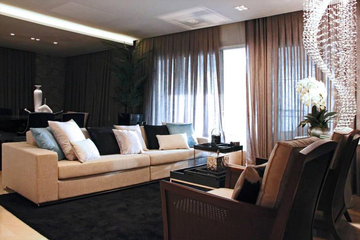 Apartamente – RÚSTICO-CHIC: Salas de jantar  por INSIDE ARQUITETURA E DESIGN