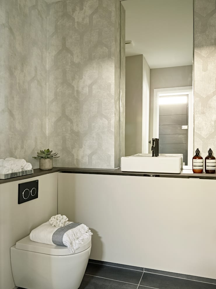 An urban chic mews in Fulham Industrial style bathroom by Tailored Living Interiors Industrial Ceramic