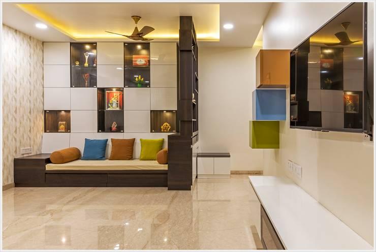 Salas de estilo moderno de GREEN HAT STUDIO PVT LTD Moderno