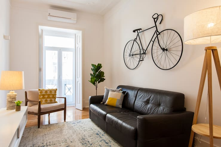Sala de Estar: Sala de estar  por Traço Magenta - Design de Interiores