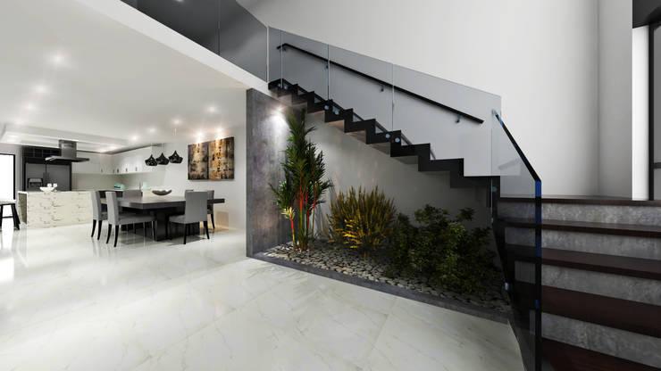 Proyecto Morán: Escaleras de estilo  por CODIAN CONSTRUCTORA