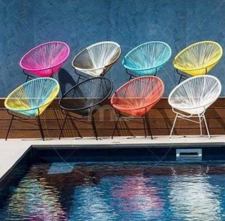 Sillas Acapulco: Jardín de estilo  por DINNOVA muebles