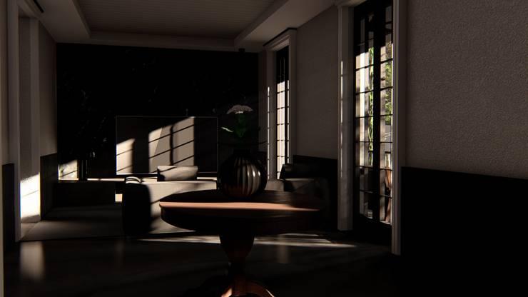 Living Room:  Ruang Keluarga by alexander and philips