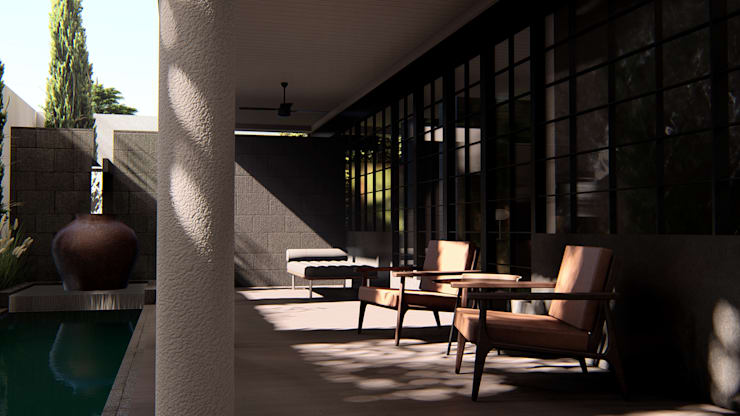 Porch:  Teras by alexander and philips