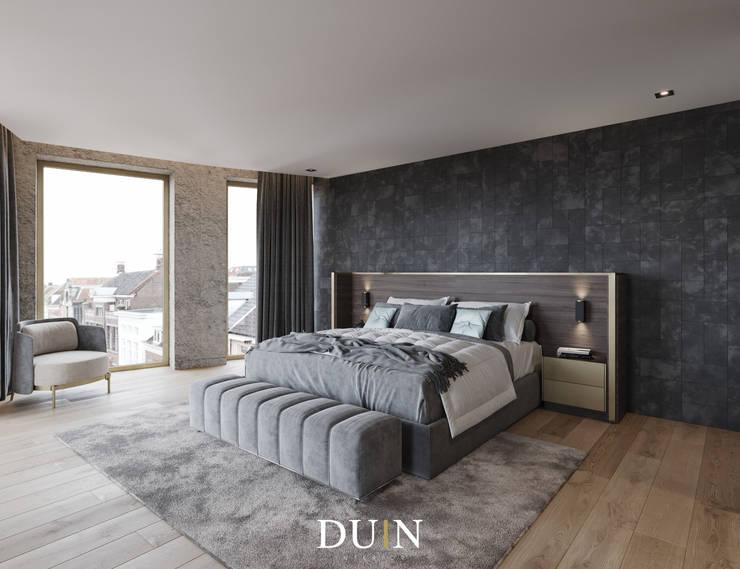 Fine Luxury Master Bedroom, Merckt Groningen:  Slaapkamer door DUIN INTERIOR, Modern Koper / Brons / Messing