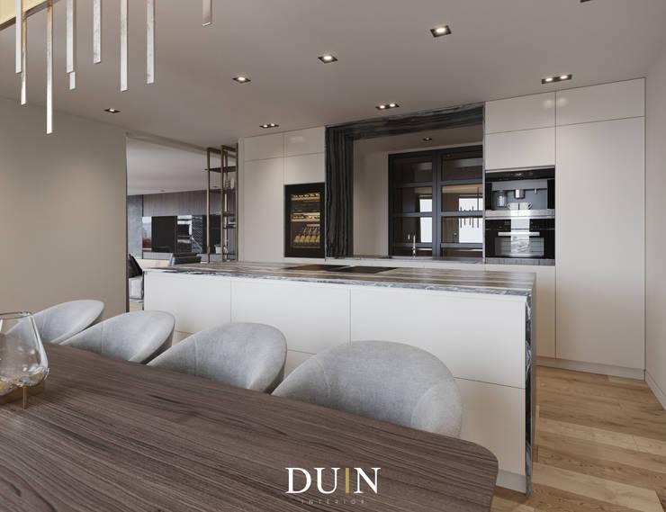 Merckt, Grote Markt Groningen:  Keuken door DUIN INTERIOR, Modern Marmer