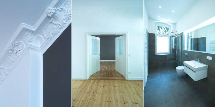 Komplettsanierung einer Altbauwohnung in Berlin-Steglitz:  Wände von Holzeco GmbH - Komplettsanierungen in Berlin