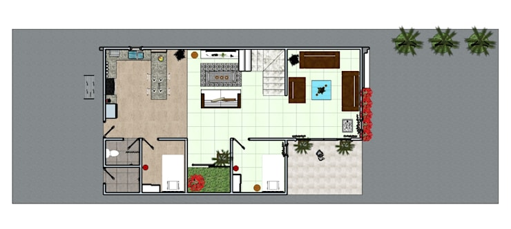 Private House :  Lantai by MODE KARYA