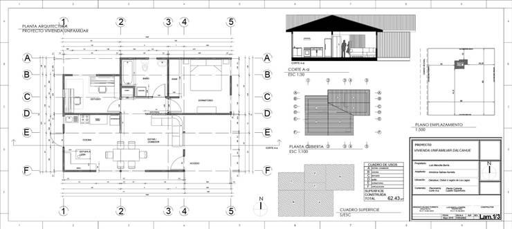 lámina de arquitectura:  de estilo  por Ekeko arquitectura  - Coquimbo