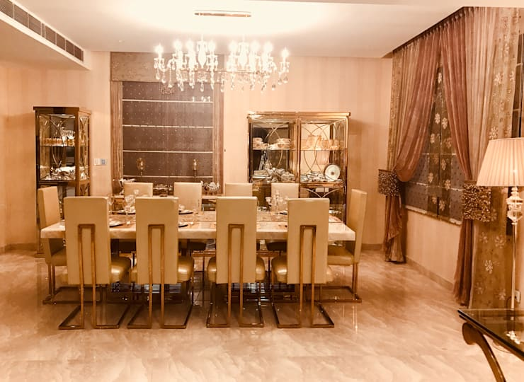 Luxury Has A New Address:  Dining room by Crosscurrents interiors private limited