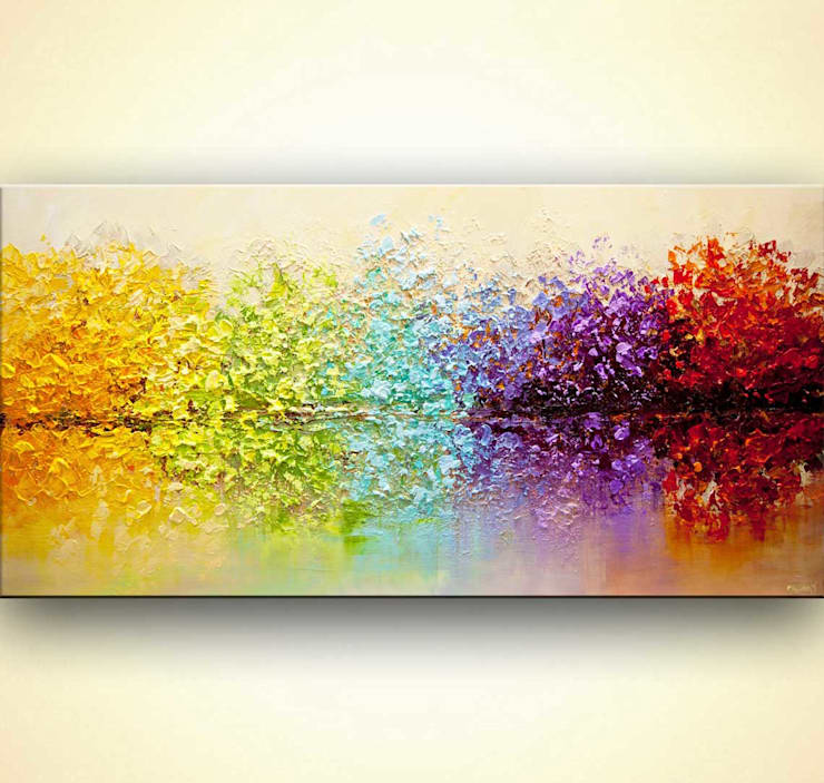 Abstract Art - modern textured abstract painting by Osnat Tzadok:  Artwork by OSNAT FINE ART