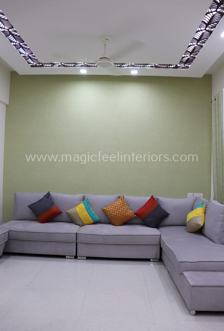 Residential Project :  Living room by Magic Feel Interiors,Modern