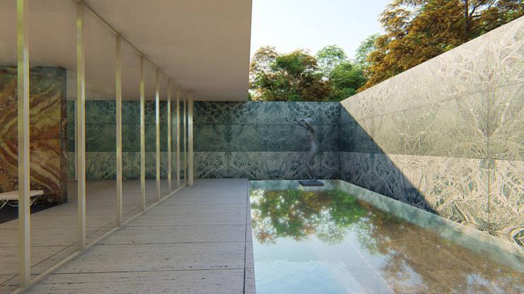 """Georg Kolbe's Alba (""""Dawn""""): Centros de exhibiciones de estilo  por Gloriana Rada"""