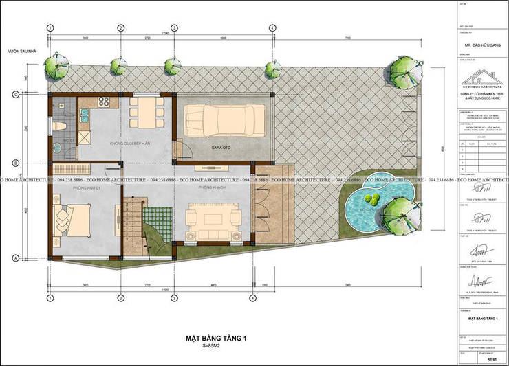 Tư vấn thiết kế:   by Công ty CP kiến trúc và xây dựng Eco Home
