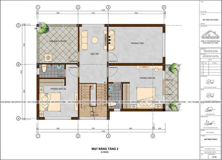 BIỆT THỰ HIỆN ĐẠI ĐỒNG ANH:   by Công ty CP kiến trúc và xây dựng Eco Home