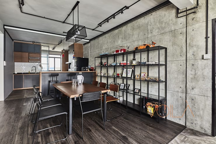 821 Yishun St 81—Industrial :  Dining room by VOILÀ Pte Ltd,Industrial