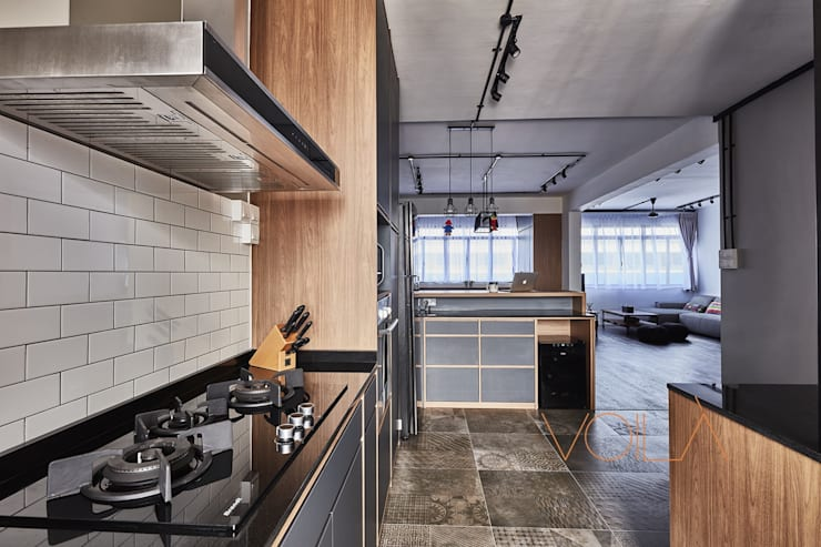 821 Yishun St 81—Industrial :  Built-in kitchens by VOILÀ Pte Ltd,Industrial