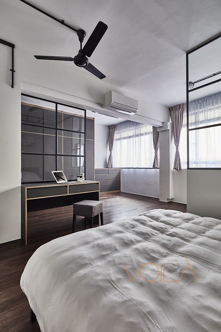 821 Yishun St 81—Industrial :  Bedroom by VOILÀ Pte Ltd,Industrial