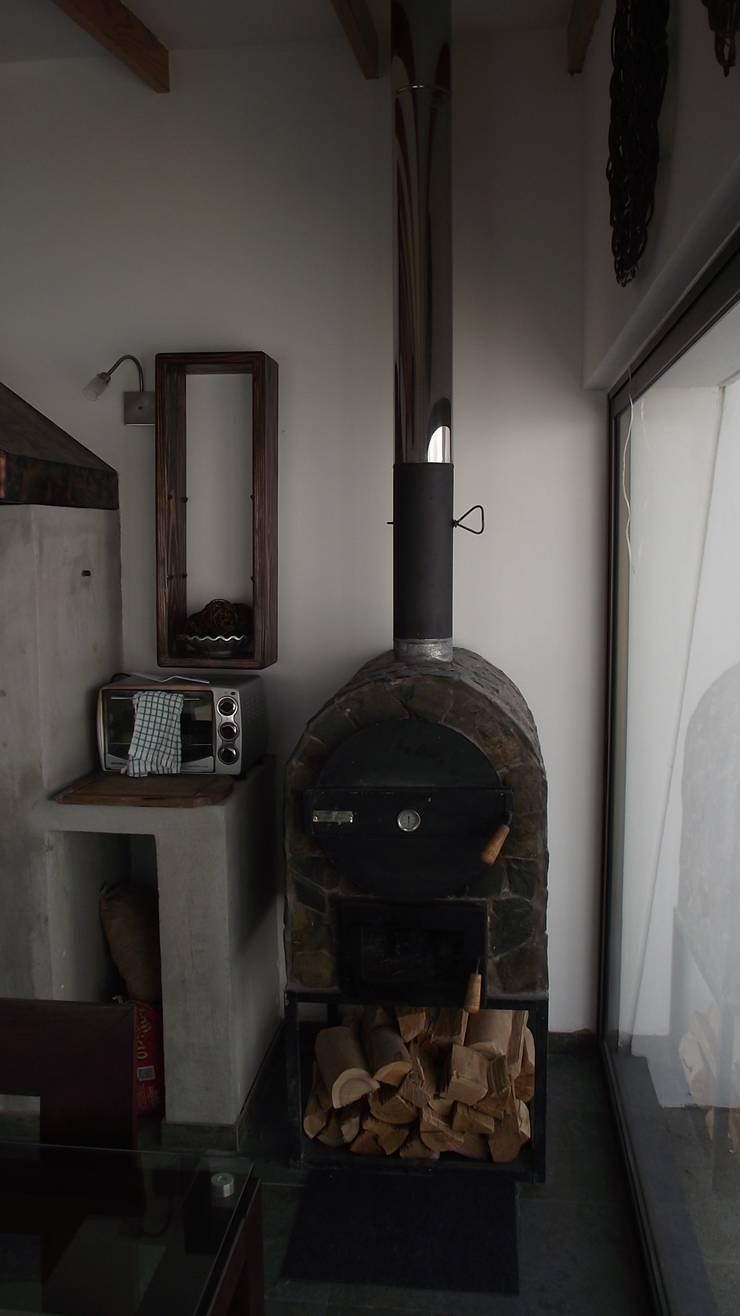 DISEÑO VIVIENDA MAC 220: Livings de estilo  por Territorio Arquitectura y Construccion - La Serena
