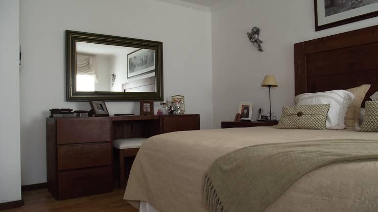 DISEÑO VIVIENDA MAC 220: Dormitorios de estilo  por Territorio Arquitectura y Construccion - La Serena