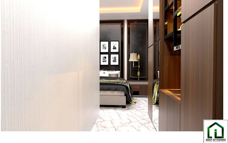 design interior bedroom 2 at kota legenda cibubur:   by Aray Interindo