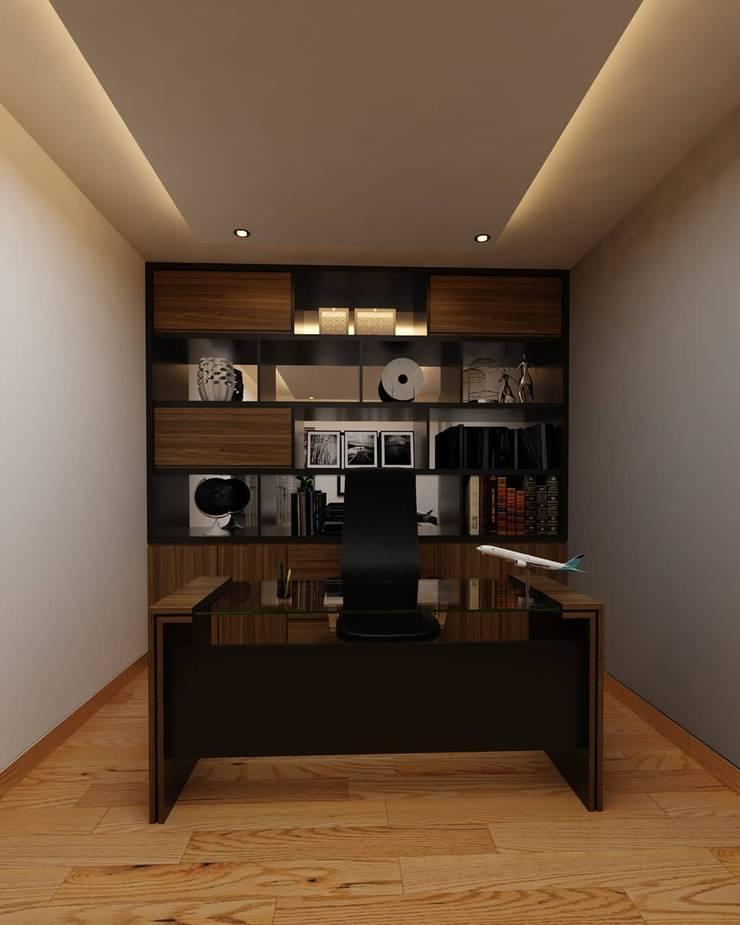 design interior office room GMF Aeroasia at Bandara Soekarno Hatta:   by Aray Interindo