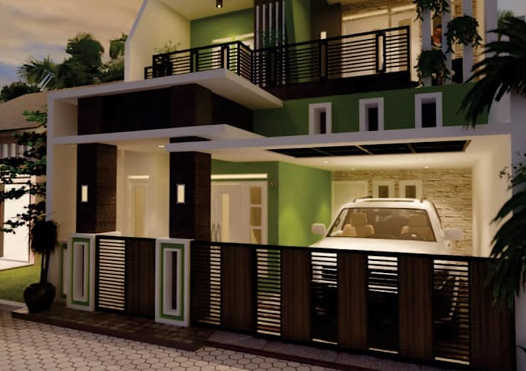 design dan renovasi fasade at cipondoh tanggerang:   by Aray Interindo