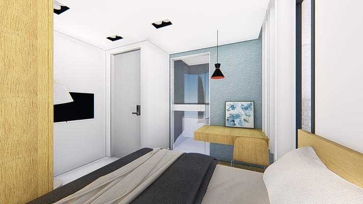 出租套房案:  臥室 by 尋樸建築師事務所