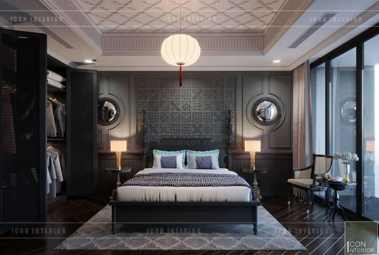 Thiết kế nội thất Penhouse Masteri Millenium – Phong cách hiện đại kết hợp Đông Dương:  Phòng ngủ by ICON INTERIOR