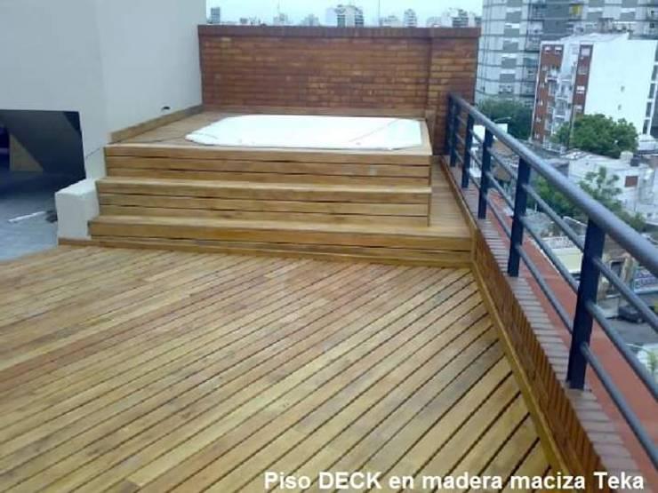 DECK EN TECA : Spa de estilo  por TECAS Y MADERAS DE COLOMBIA SAS, Clásico