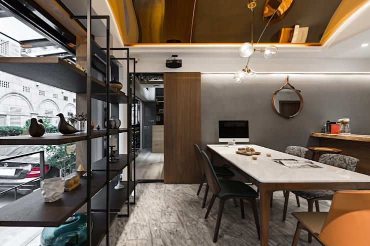 場域區隔:  書房/辦公室 by 京彩室內設計裝修工程公司