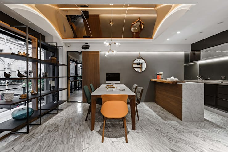 開放式設計:  書房/辦公室 by 京彩室內設計裝修工程公司