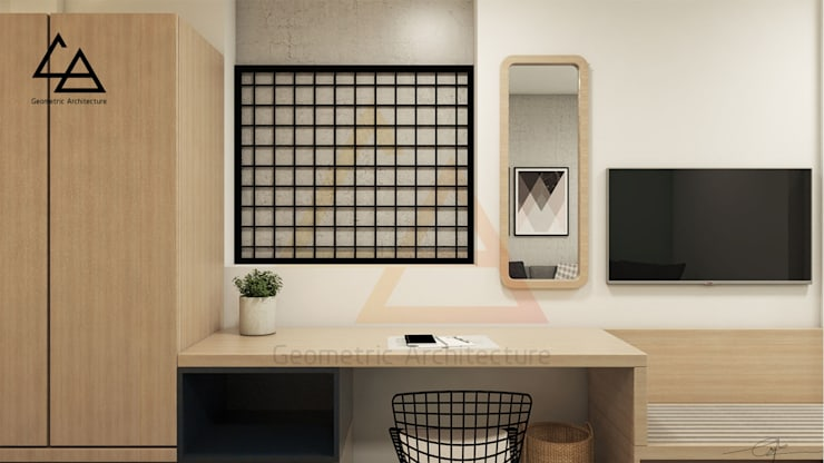 Working space:  Phòng giải trí by G.A Studio