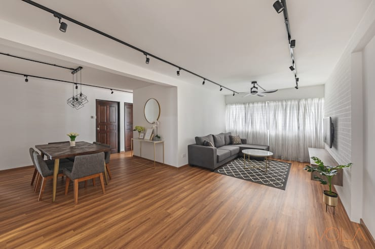 786 Yishun Ring Road - Scandinavian :  Living room by VOILÀ Pte Ltd,Scandinavian