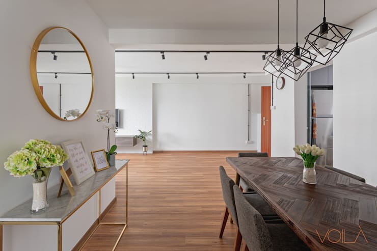 786 Yishun Ring Road—Scandinavian :  Dining room by VOILÀ Pte Ltd,Scandinavian
