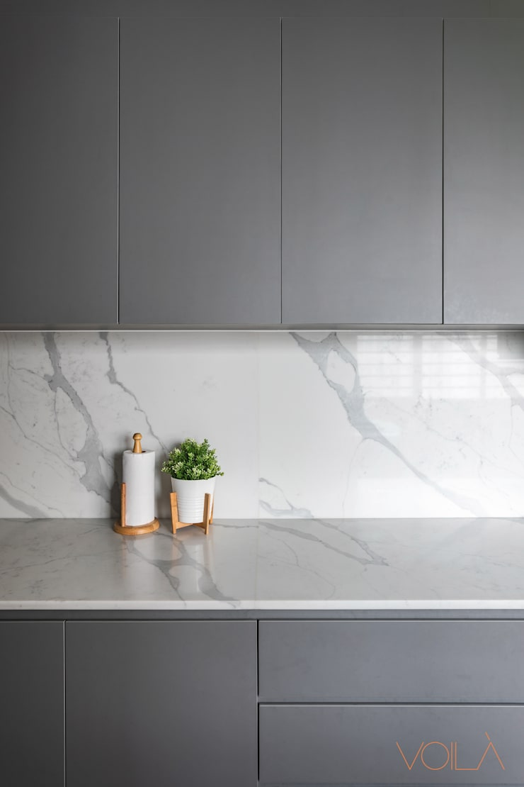 786 Yishun Ring Road—Scandinavian :  Built-in kitchens by VOILÀ Pte Ltd,Scandinavian