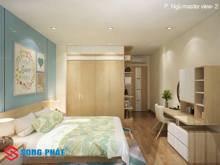 Chiêm ngưỡng thiết kế nội thất trẻ trung bên trong nhà phố 5 tầng:  Phòng ngủ by Công ty TNHH TK XD Song Phát