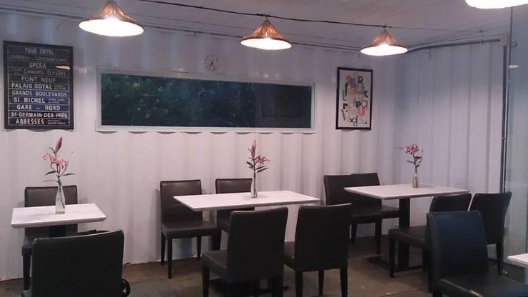 貨櫃屋 改造餐廳:  餐廳 by 洄瀾柴房 景觀工作坊 貨櫃屋改造